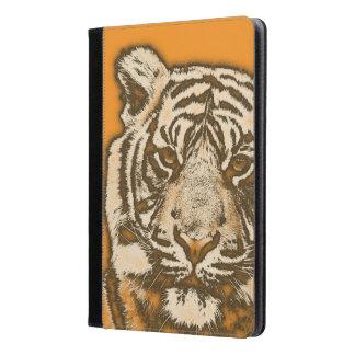 Tigre abstracto anaranjado del Grunge
