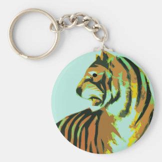 tigre abstracto llavero personalizado