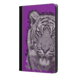 Tigre abstracto púrpura del Grunge