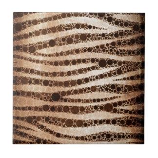 Tigre abstracto quemado azulejo cuadrado pequeño