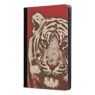 Tigre abstracto rojo del Grunge
