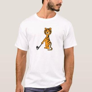 Tigre AJ que juega el dibujo animado del golf Playera