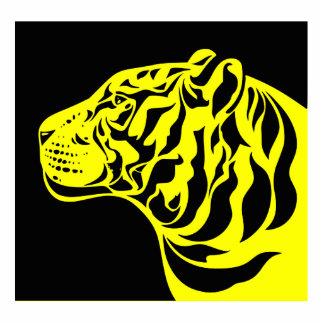 Tigre amarillo escultura fotografica