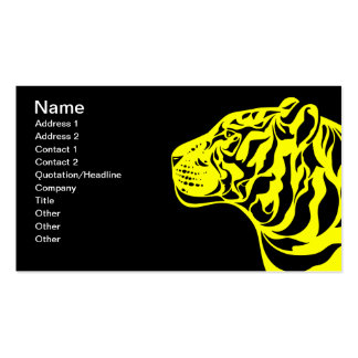 Tigre amarillo plantilla de tarjeta personal