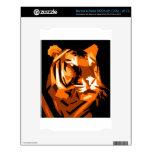 Tigre anaranjado calcomanías para NOOK