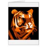 Tigre anaranjado felicitaciones