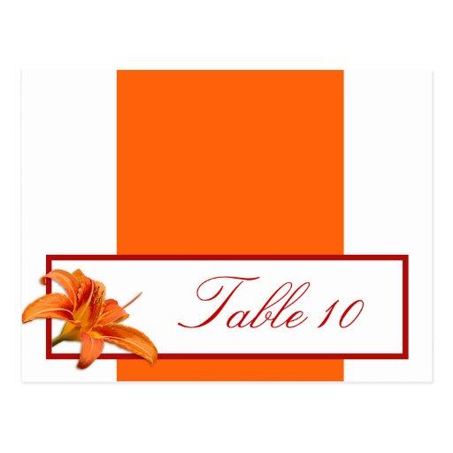 Tigre anaranjado Lilly w/Stripes R de la tarjeta p Tarjetas Postales
