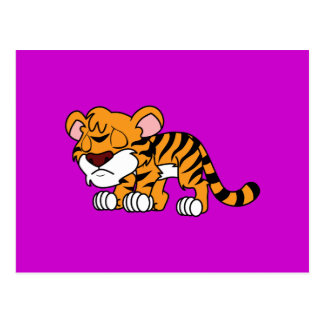 Tigre anaranjado lindo gritador Cub de bebé Postal