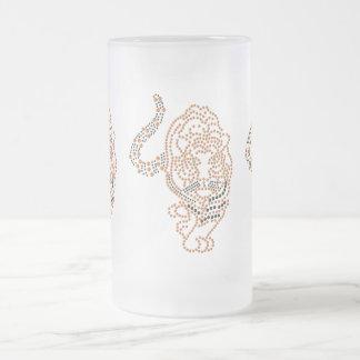 Tigre anaranjado taza de cristal