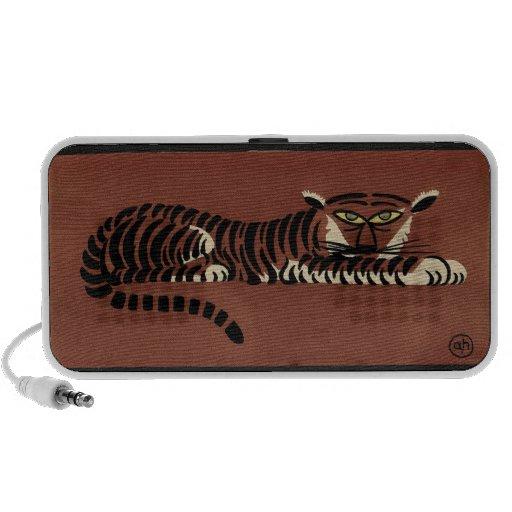 Tigre - anticuario, ejemplo de libro colorido altavoces