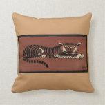 Tigre - anticuario, ejemplo de libro colorido almohadas