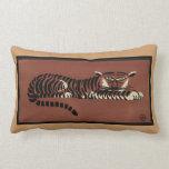 Tigre - anticuario, ejemplo de libro colorido cojín