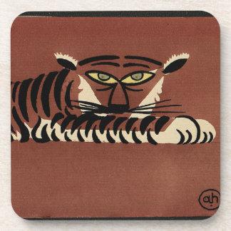 Tigre - anticuario, ejemplo de libro colorido posavaso