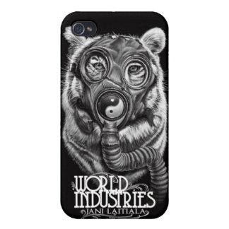 Tigre apocalíptico de Jani iPhone 4 Carcasas