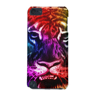 Tigre artsy del arco iris funda para iPod touch 5G