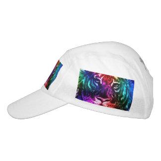 Tigre artsy del arco iris gorra de alto rendimiento