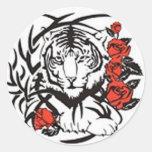 Tigre audaz - sin frontera etiquetas redondas