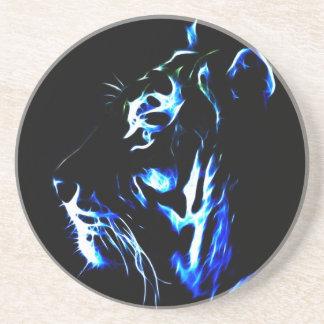 Tigre azul de Fractalius Posavasos Diseño