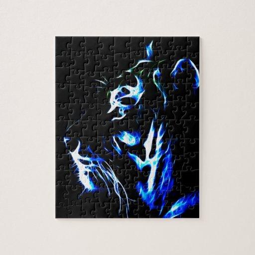Tigre azul de Fractalius Rompecabezas Con Fotos