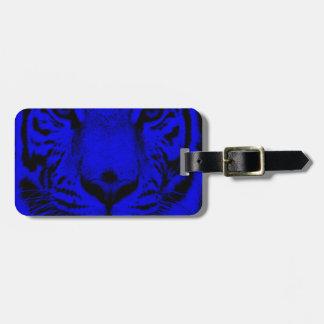 Tigre azul etiquetas bolsas