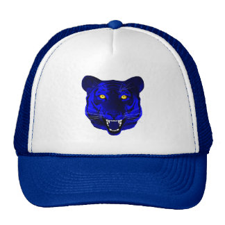 Tigre azul gorros bordados