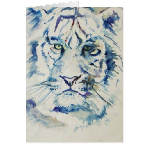 Tigre azul tarjeta