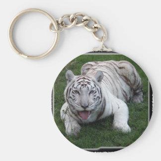 tigre blanco 1 11x11 llavero redondo tipo pin