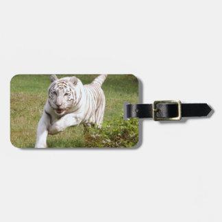 Tigre blanco 3825e etiqueta para equipaje
