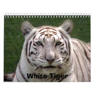 Tigre blanco 3949e, tigre blanco calendario de pared
