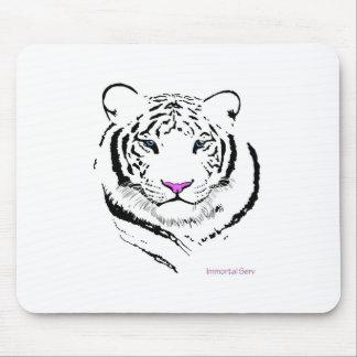 Tigre blanco alfombrillas de ratones