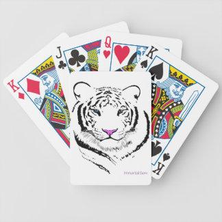 Tigre blanco baraja de cartas