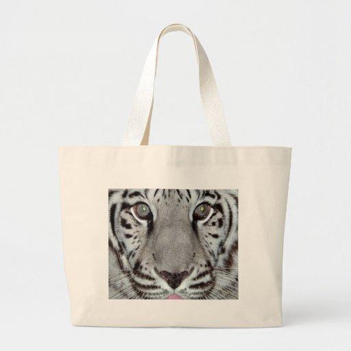 Tigre blanco bolsa de mano