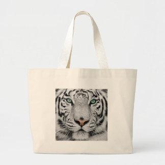 Tigre blanco bolsa tela grande