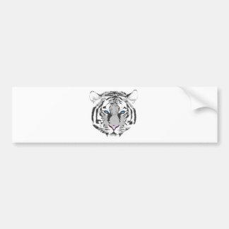 Tigre blanco pegatina de parachoque