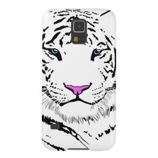 Tigre blanco carcasas de galaxy s5