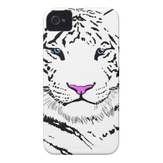 Tigre blanco Case-Mate iPhone 4 protector