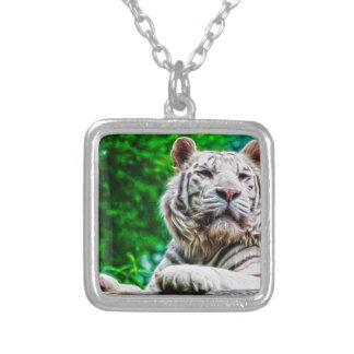 Tigre blanco colgante cuadrado