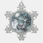 Tigre blanco como la nieve adorno