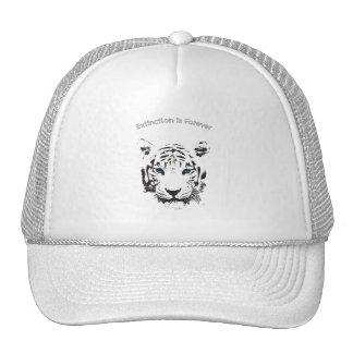 Tigre blanco con los ojos azules gorro