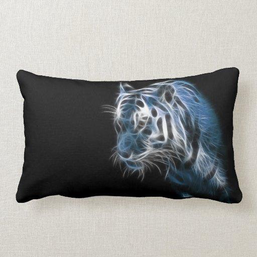 Tigre blanco eléctrico cojín