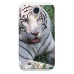 Tigre blanco en imagen vertical del marco de la hi