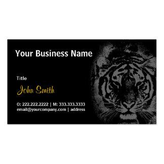 Tigre blanco en tarjeta de visita de noche