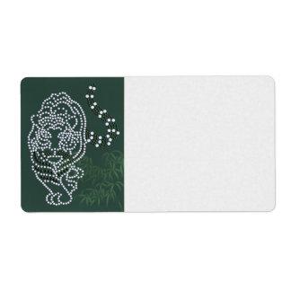 Tigre blanco etiqueta de envío