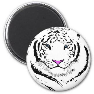 Tigre blanco imanes de nevera