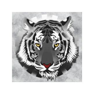 Tigre blanco impresion de lienzo