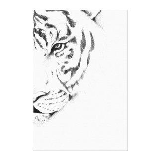 tigre blanco impresiones de lienzo