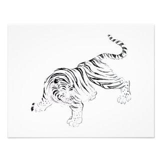 Tigre blanco invitación personalizada