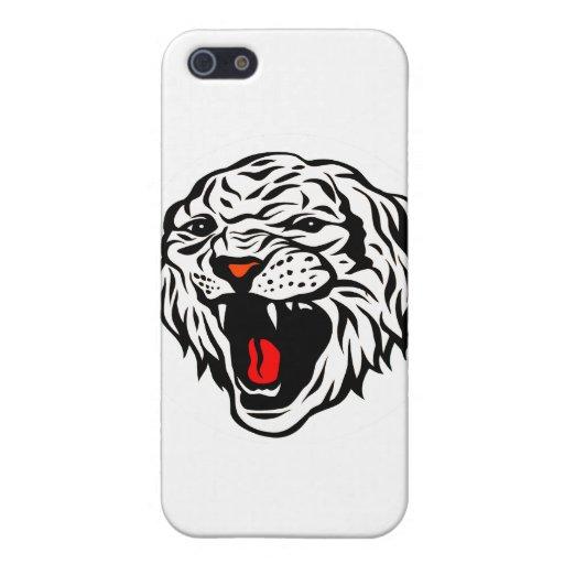 Tigre blanco iPhone 5 fundas