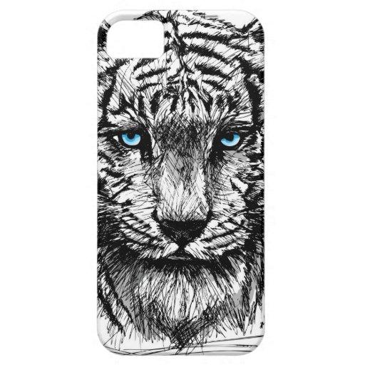 Tigre blanco iPhone 5 protector