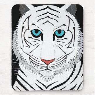 Tigre blanco Mousepad Alfombrillas De Ratones